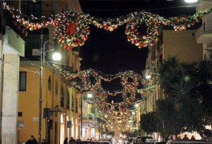 Shopping natalizio sul corso italia di Sorrento