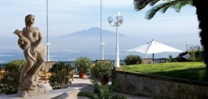 Splendido panorama dall' Hotel Europa Palace di Sorrento