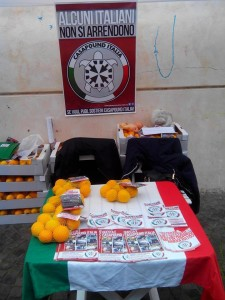 Casapound e le arance di Sorrento