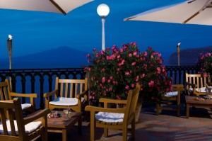 Giardino dell' Hotel Europa Palace a Sorrento