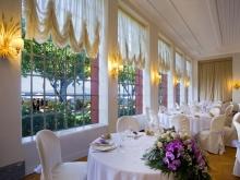 Sala ristorante dell' albergo Europa Palace a Sorrento