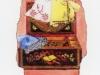 Sorrento, intarsio, seta e merletti  - Carte da Gioco Sorrento